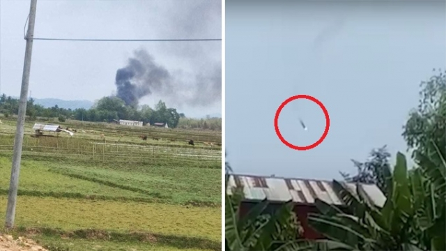 Myanmar helicopter shot down 640