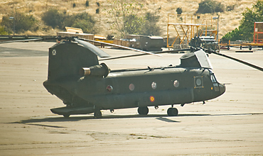Chinook on the platform at Colmenar Viejo