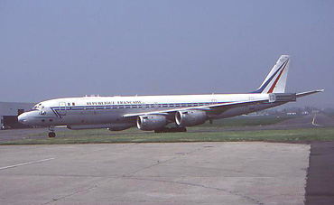 This ELINT DC-8 often comes to Le Bourget for maintenance with Air France
